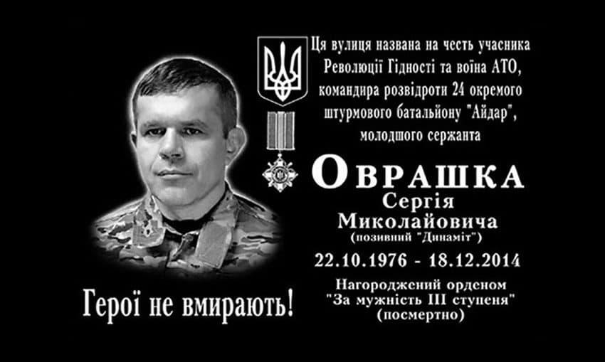 Сергія Миколайовича Оврашка