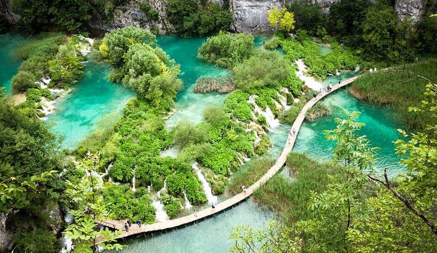 Плітвіцькі озера – найбільший національний парк Хорватії